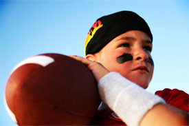 very young quarterback for team Playdate