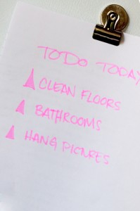 Todays to-do list