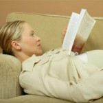 pregnancy books woman reading