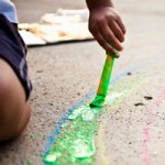 Painting the sidewalk
