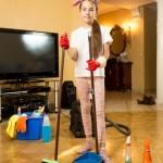 GirlSweeping